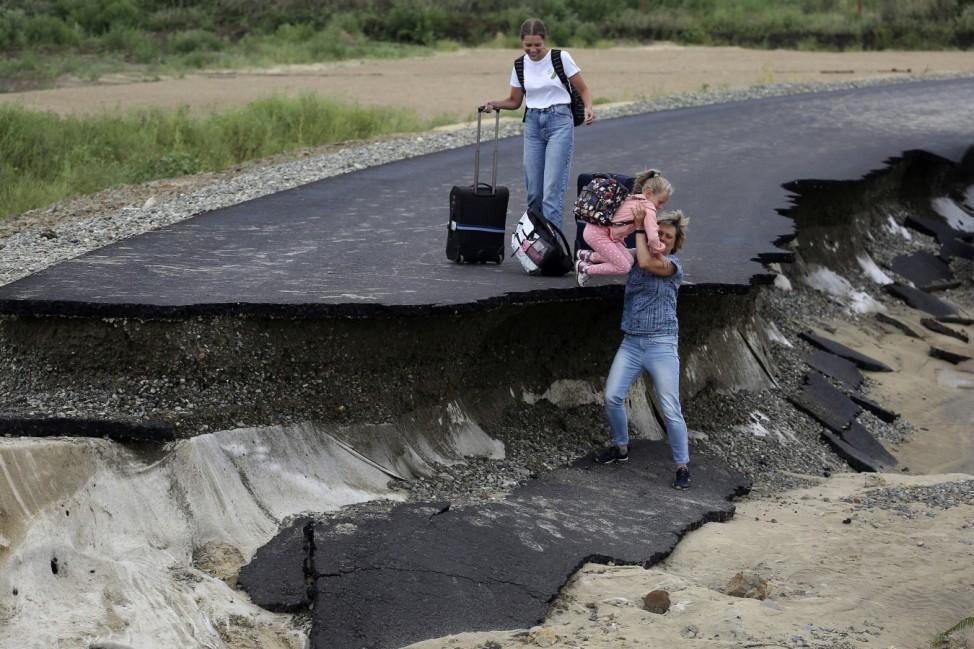 Überschwemmungen in Russland
