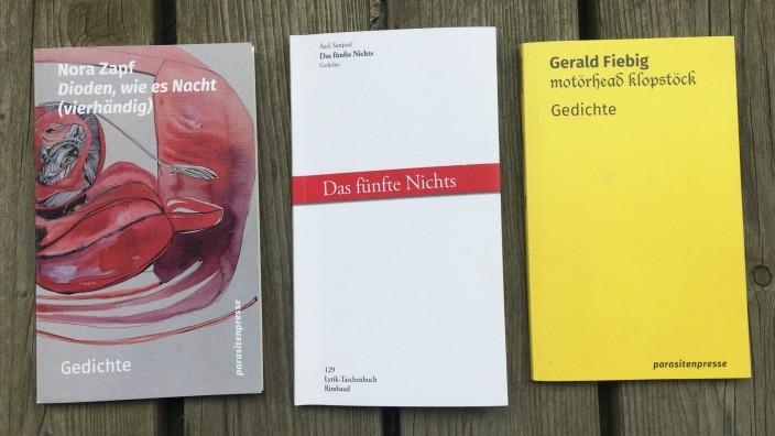 """Literatur: """"Noise unter der Sonne"""" und Neues von der Nacht: Die Münchner Lyriker Nora Zapf und Àxel Sanjosé sowie der Augsburger Lyriker Gerald Fiebig setzen sich mit Traditionen auseinander - und sind dabei ganz im Heute."""