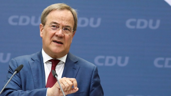 FILE PHOTO: CDU party leader Laschet attends a news conference in Berlin