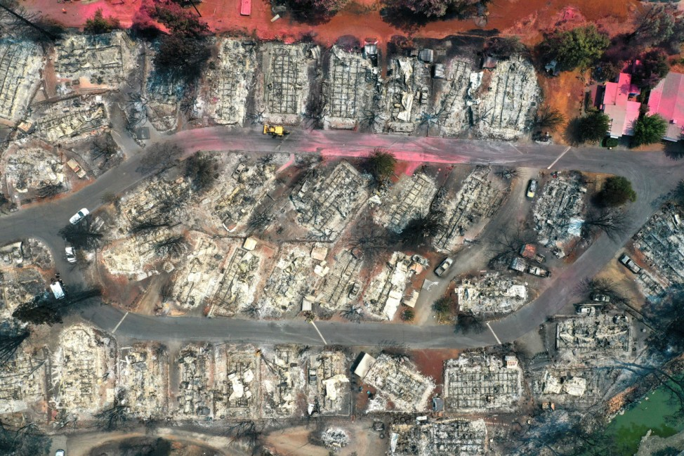 Cache Fire In Lower Lake, California Burns Mobile Home Park And Houses