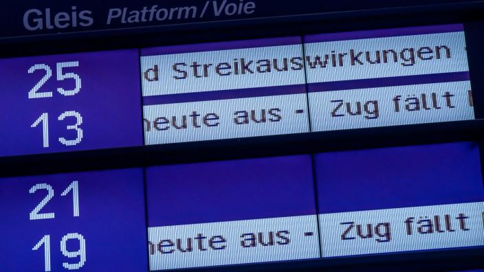 Streik der Lokführer - Bayern