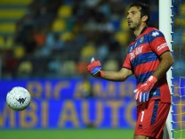Gianluigi Buffon,Soccer, Serie B match , Frosinone v Parma Gianluigi during the Serie B match between Frosinone v Parma; Gianluigi Buffon