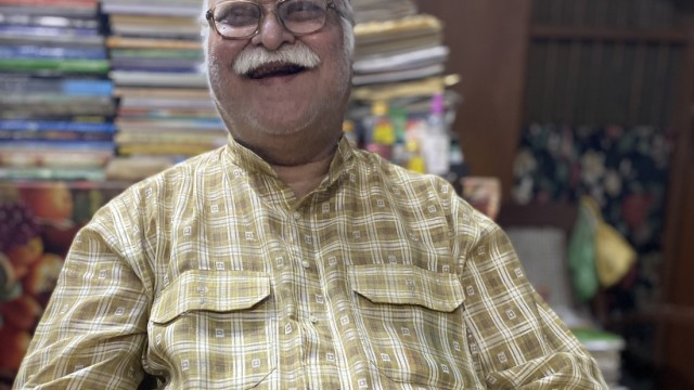 Reportage über dem Rama-Tempel in Ayodhya von David Pfeifer