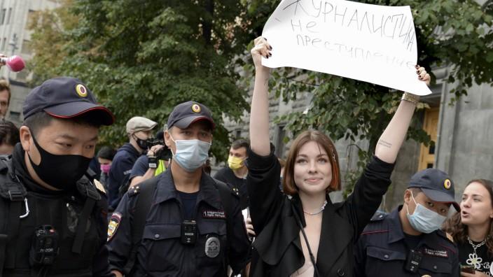Mehrere Journalisten in Moskau bei Mahnwachen festgenommen