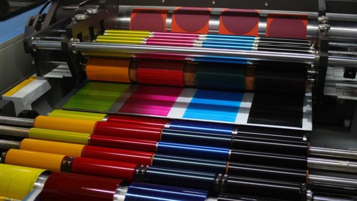 Offset Printing Press CMYK Ink Rollers