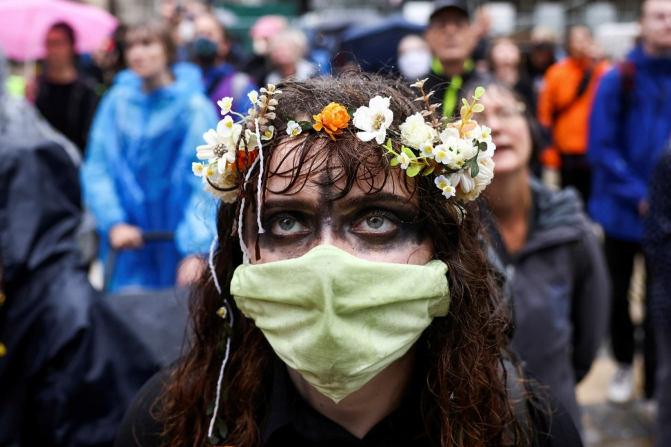 Activists from Extinction Rebellion protest in London