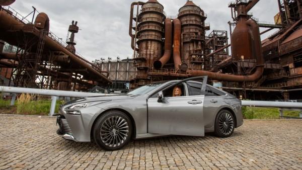 Presentation of Toyota Mirai, first hydrogen-fuelled car in Czechia. Toyota Mirai presentation in Ostrava, Czech Republ