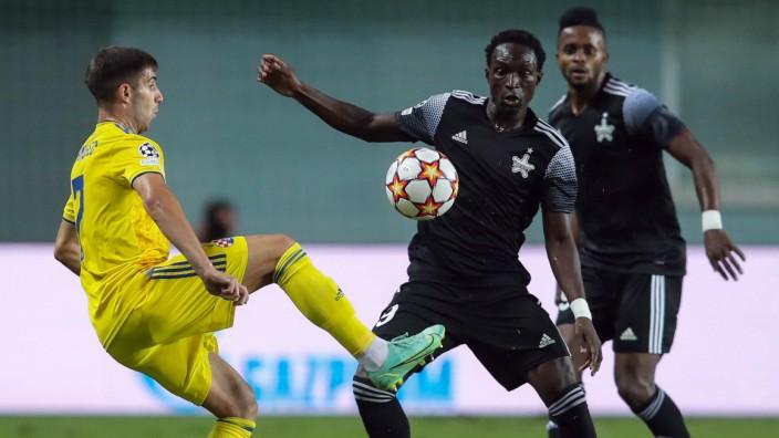 PXL_FC Sheriff v Dinamo Zagreb - UEFA Champions League: Play-Offs Leg One TIRASPOL, MOLDOVA - AUGUST 17: Luka Ivanusec o