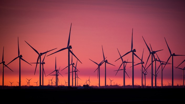 Windkraftanlage an der Nordsee