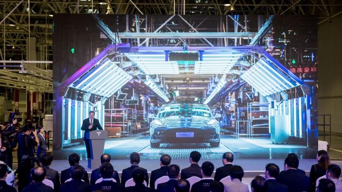 Teslas Giga-Fabrik in China