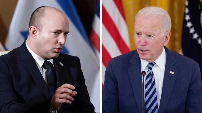 Diplomatie: Naftali Bennett (links), Joe Biden: Entsteht eine neue Ära der Nahostpolitik? Eher nicht.
