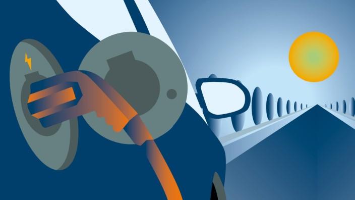 E-Auto beim Laden (Symbolbild)