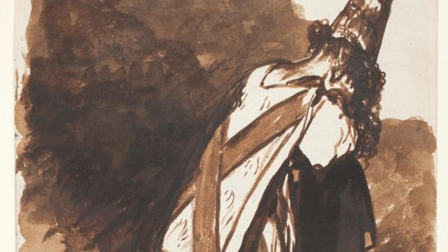 Die Favoriten der Woche: Aus den Zeichnungen, die Goya zwischen 1814-1823 in ein Album tuschte: Oft Opfer der Inquisition mit der typischen Büßerkleidung.