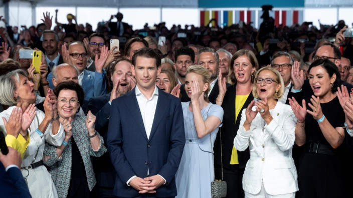 20210828 39th Ordinary Federal Party Congress of OEVP ST. POELTEN, AUSTRIA - AUGUST 28: Federal Chancellor Sebastian Kur