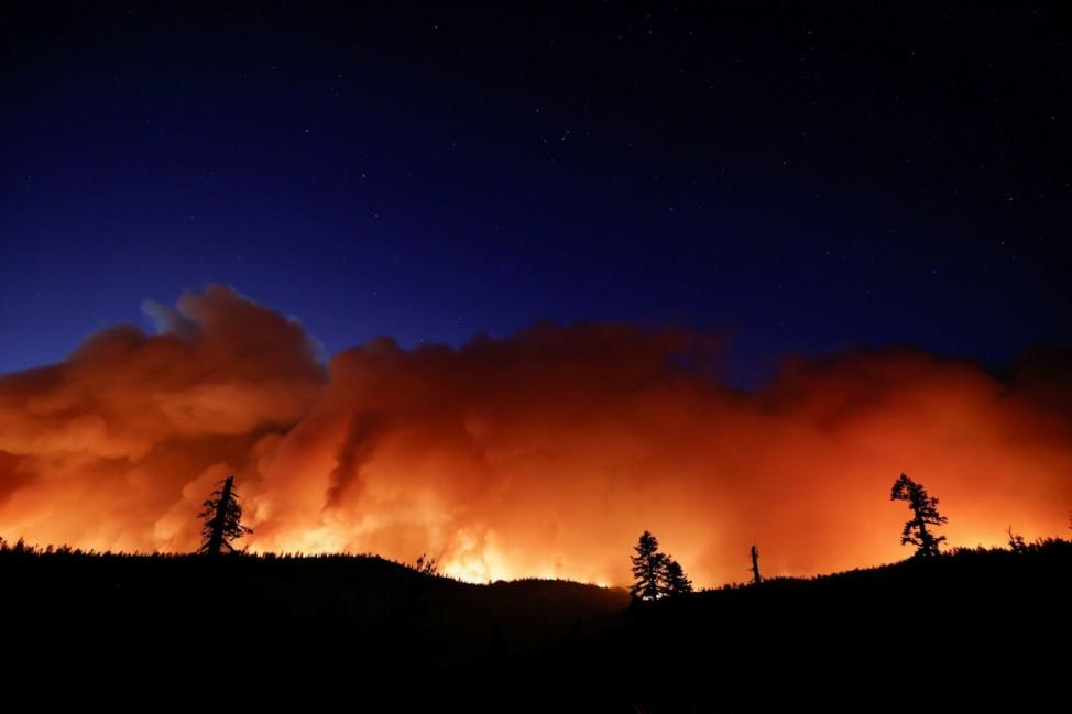 Caldor Fire burns near Pioneer, California