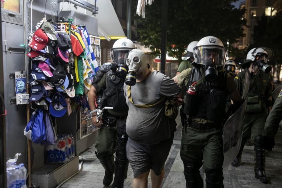 Coronavirus - Proteste in Griechenland