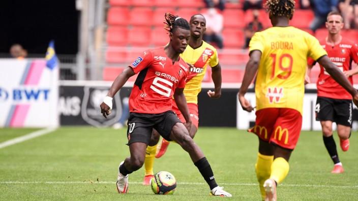 Ligue 1: Eduardo Camavinga beim Spiel Stade Rennes gegen RC Lens