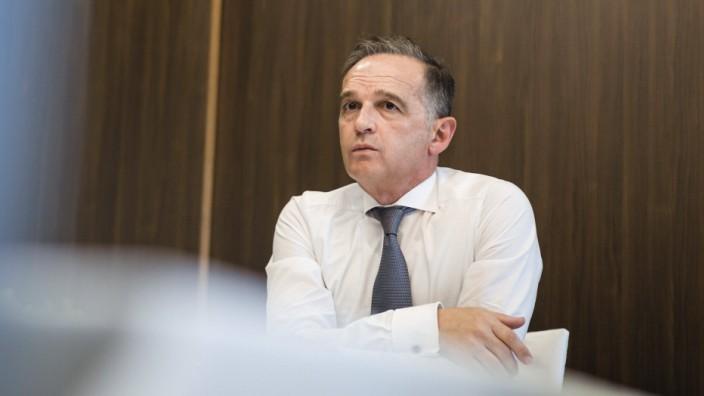 Bundesaussenminister Heiko Maas, SPD, aufgenommen im Rahmen einer Videokonferenz in Duschanbe. 30.08.2021. Duschanbe Ta