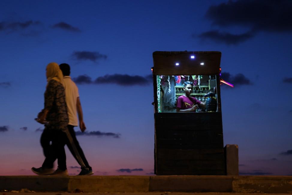 Abendstimmung in Gaza