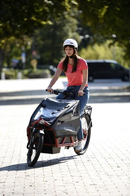 Lastenräder: Um ein Lastenrad zu fahren, braucht es eine gewisse Übung.