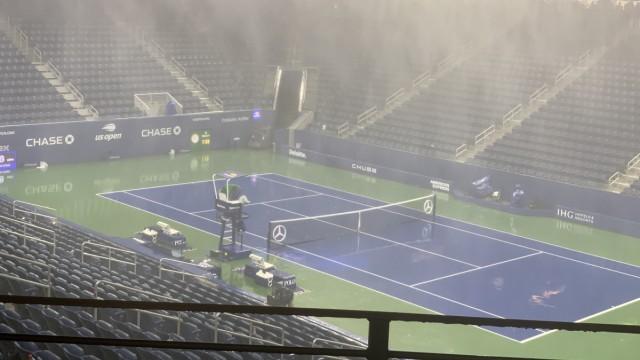 Unwetter in New York - Kerber-Spiel bei US Open verschoben