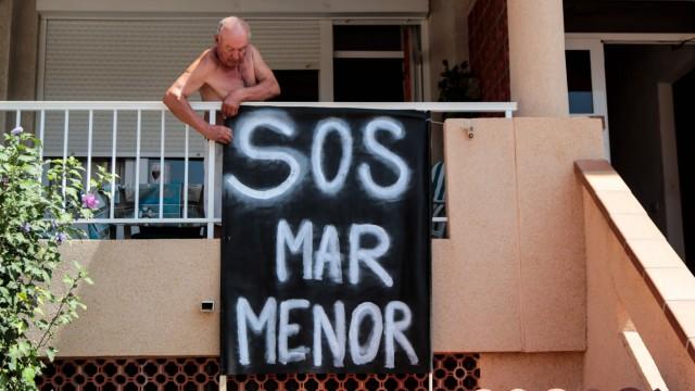 Umweltkatastrophe in Spanien: Ein Protestzeichen gegen die Verschmutzung des Mar Menor