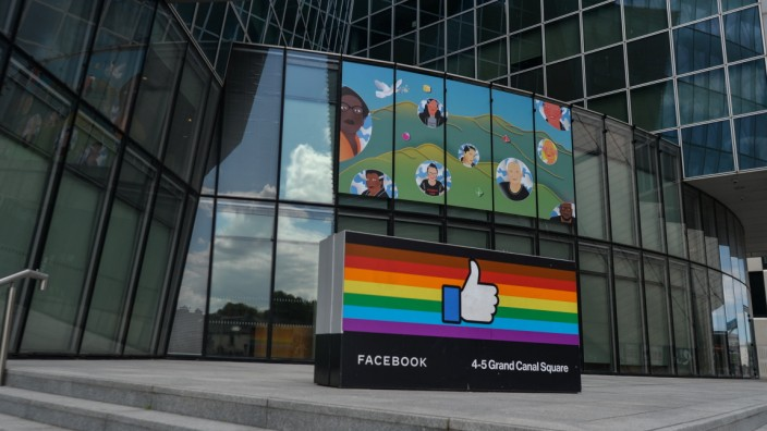 Daily Life In Dublin Facebook EMEA headquarters on Grand Canal Square in Dublin Docklands. On Thursday, 17 June 2021, in