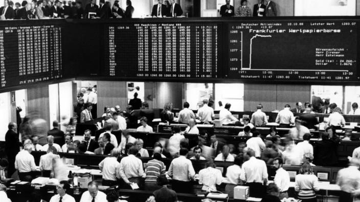 Wertpapierbörse in Frankfurt am Main 1988