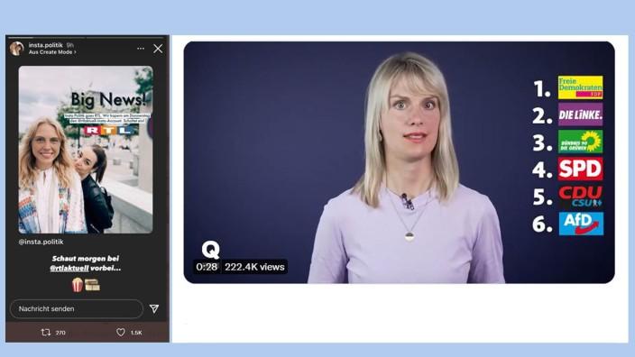 Medien vor der Bundestagswahl: Fallstricke im Medienwahlkampf: Quarks bringt ein unpassendes Parteien-Ranking, ein Instagram-Account kündigt eine RTL-Kooperation an.
