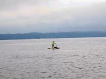 Der See lockt auch an trüben Tagen; Das Wetter macht es möglich