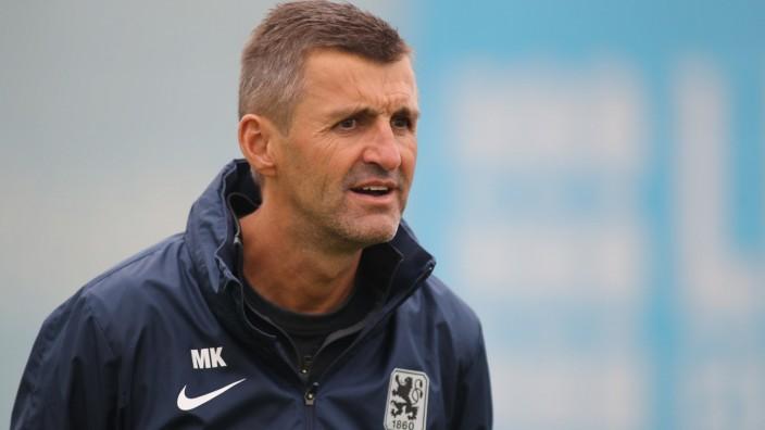 Muenchen, Deutschland 26. August 2021: 3.Liga - 2021/2022 - TSV 1860 Muenchen - Training - 26.08.2021 Trainer Michael K