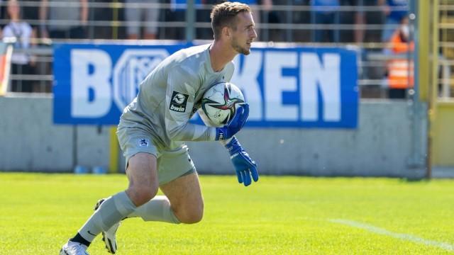 Marco Hiller 1 (TSV 1860 Muenchen), TSV 1860 Muenchen vs. SV Meppen, 04.09.2021 DFB regulations prohibit any use of pho