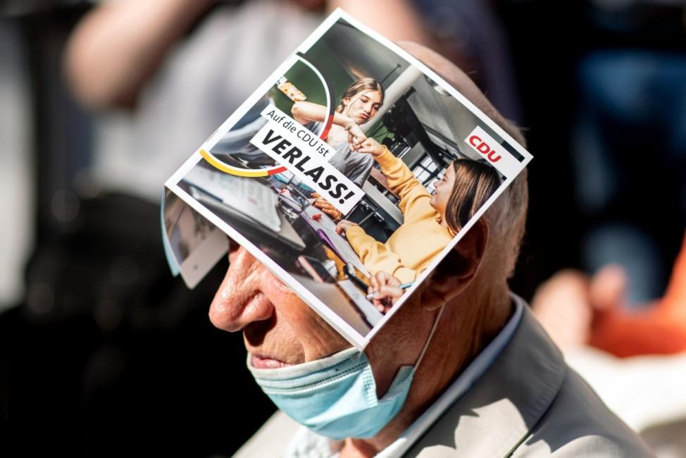 Wahlkampf CDU - Armin Laschet in Neustadt a. Rbge