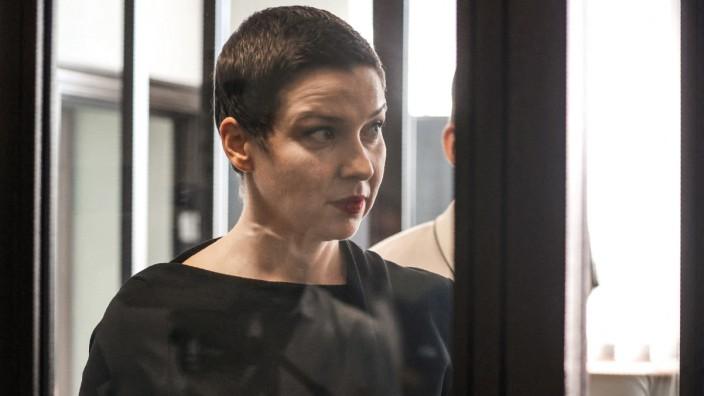 Belarus: Maria Kolesnikowa bei einem Prozesstermin in Minsk.