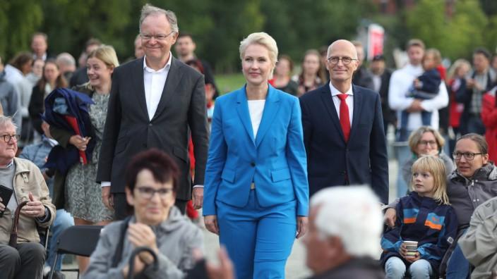 SPD-Wahlkampfveranstaltung in Schwerin