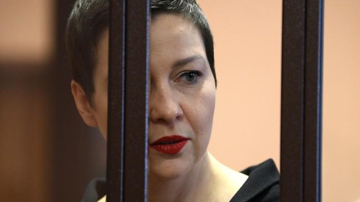 Belarus Opposition Figures Trial 6644309 06.09.2021 Maria Kolesnikova, a member of the Belarusian opposition coordinati