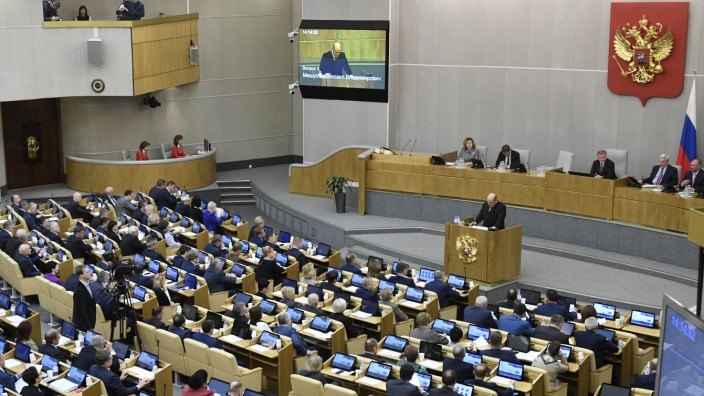 Russland: Die Duma in Moskau