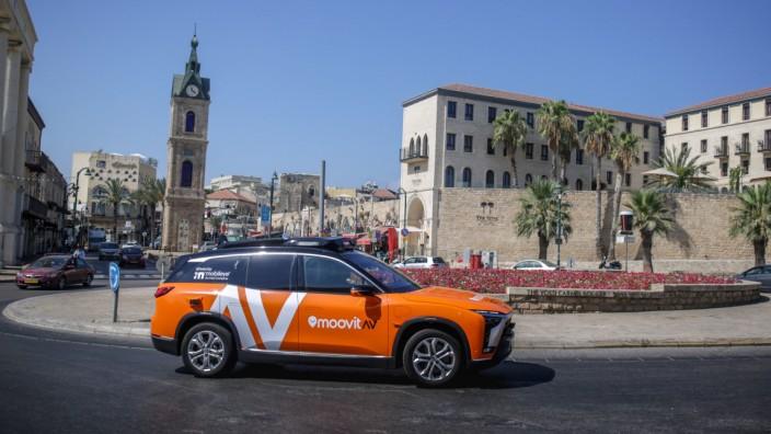 Autonom fahrendes Taxi von Mobileye