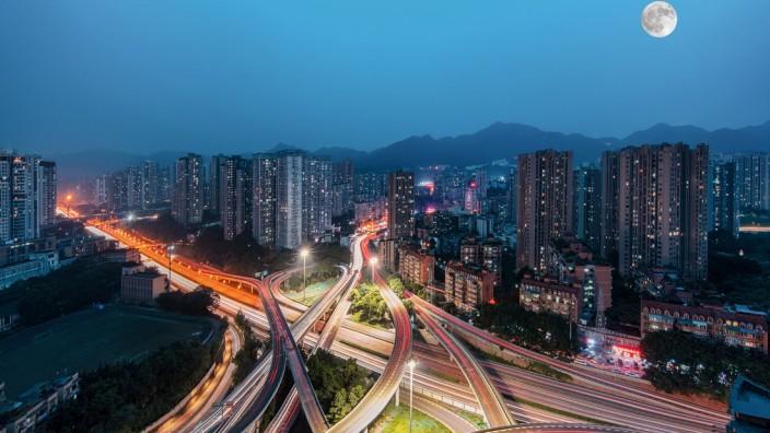 Chongqing urban architecture - overpasses China, 28/06/2021, Copyright: xViewxStockx, Ref:236-0009538.jpg, Chongqing, ch