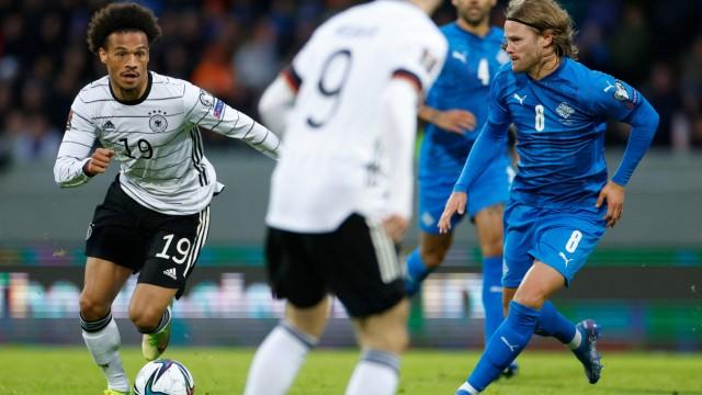 Deutsche Nationalmannschaft: Nicht nur gegen Island sehr dynamisch unterwegs: Leroy Sané (links) überzeugte in dieser Länderspielserie.