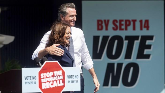 In Vizepräsidentin Kamala Harris hat Kaliforniens Gouverneur Gavin Newsom eine enge Verbündete.