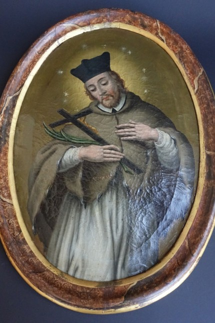 Versteigerung in Grafing: Ein Bild des heiligen Johann Nepomuk aus der Zeit um 1760.