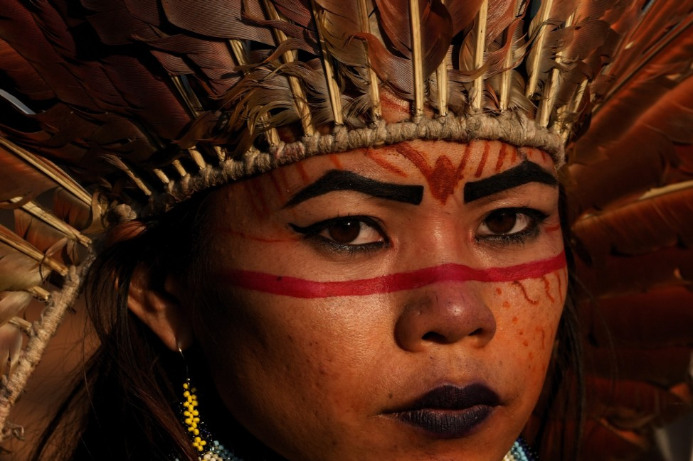 Indigene protestieren in Brasilia