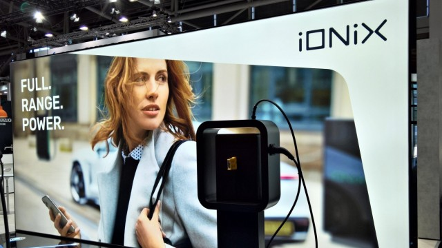 IAA Mobility (Internationale Automobil Ausstellung) 2021 in Muenchen. Foto: iONiX Full Range Power - Ladestation fuer E