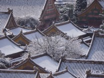 China spring snow in Beijing