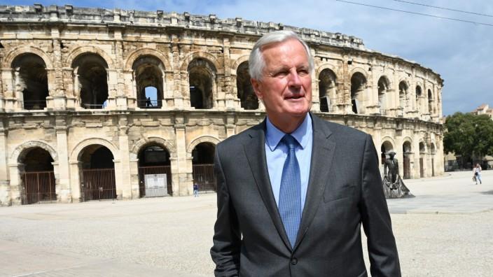 Michel Barnier am Donnerstag im südfranzösischen Nîmes.