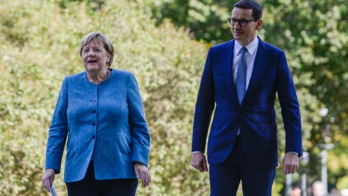 German Chancellor Angela Merkel Visits Warsaw