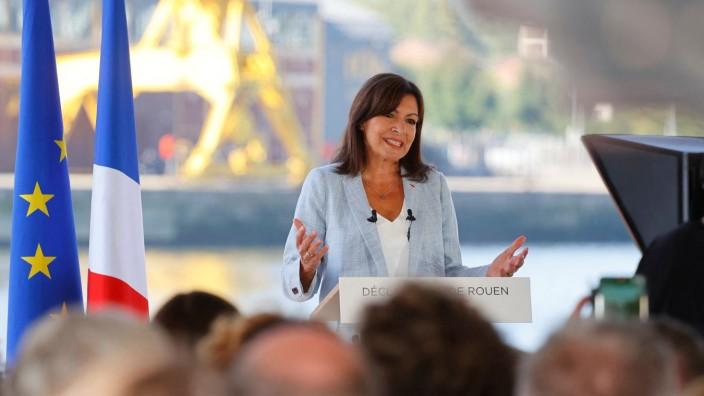 Frankreich: Anne Hidalgo verkündet ihre Kandidatur bei einer Rede in Rouen in der Normandie.