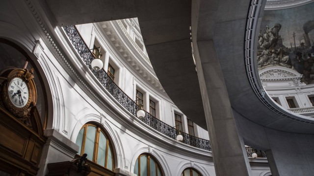 Paris, France May 18, 2021 - Contemporary art museum La Bourse de Commerce Pinault Collection owned by billionaire Fran