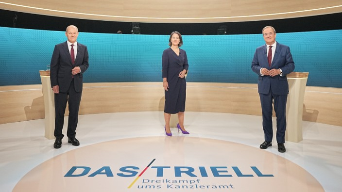 Chancellor Candidates Meet For 2nd 'Triell' Televised Debate